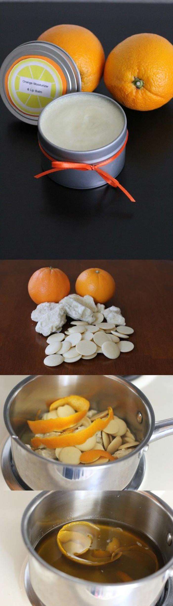 Handcreme und Lippenbalsam mit Orangen Extrakt