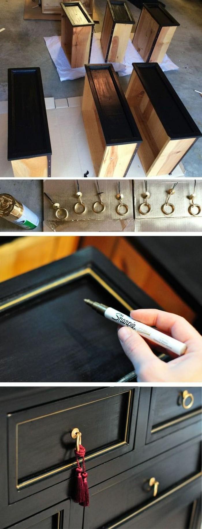 5-Alte-Möbel-aufpeppen-schwarzer-schrank-mit-goldenen-elementen-selber-machen