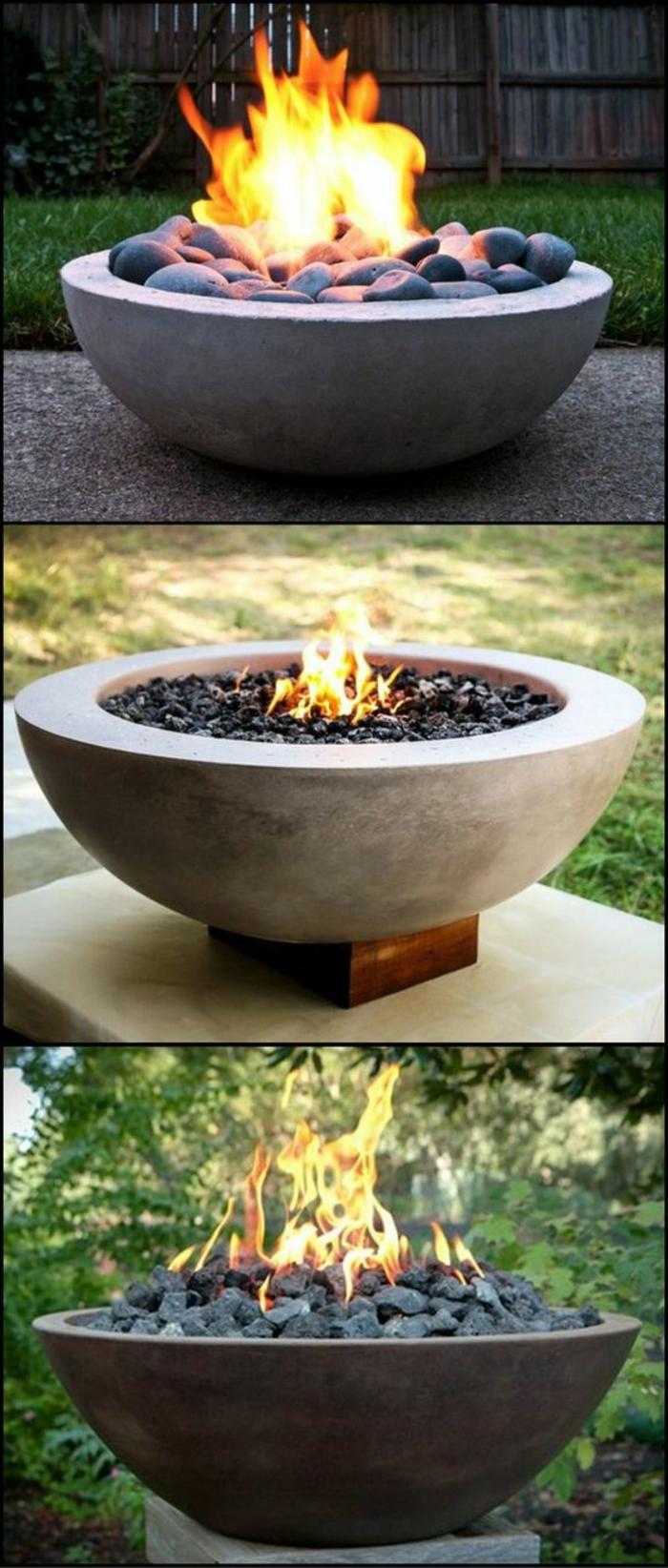 eine offene Feuerstelle schafft Romantik