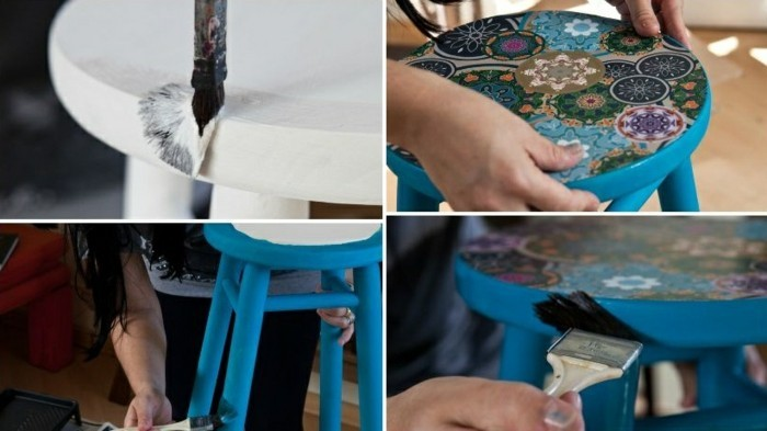 7-Alte-Möbel-aufpeppen-weißerhocker-bemalen-und-tapezieren-diy-mobiliar