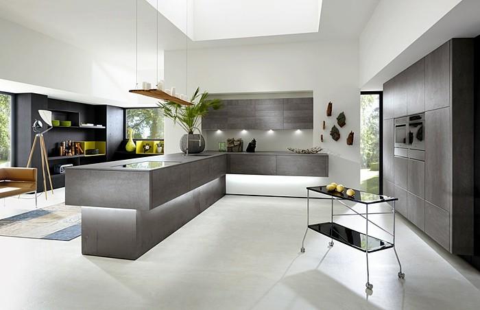 7küche-streichen-weiß-küchenschränke-grau-boden-weiß-wanddeko-pflanzendeko-teppich-muster-regal-schwarz