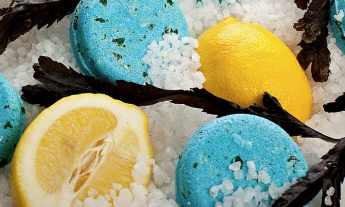 Haarseife mit Meeressalz und frischem Zitronensaft
