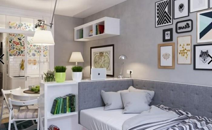 9kleine-räume-geschickt-einrichten-wohnzimmer-und-küche-mit-regalraumteiler-abtrennen