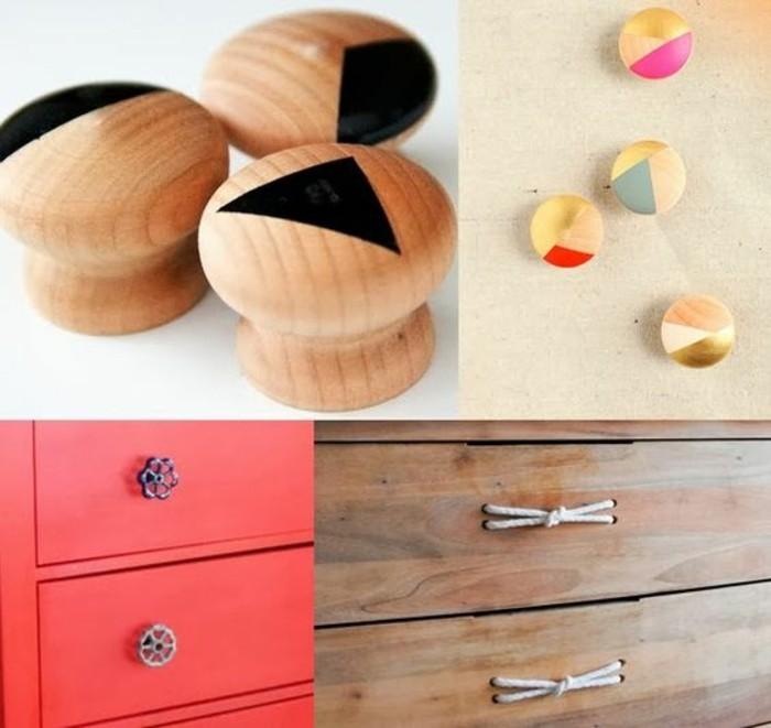 Alte-Möbel-aufpeppen-schränke-renovieren-hölzerne-knäufe-mit-geometrischen-elementen
