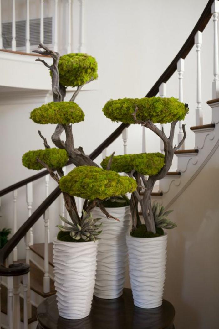 Deko-mit-moos-bonsei-bäume-mit-moos-decke