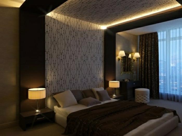 richtige Beleuchtung im Schlafzimmer modernes Design