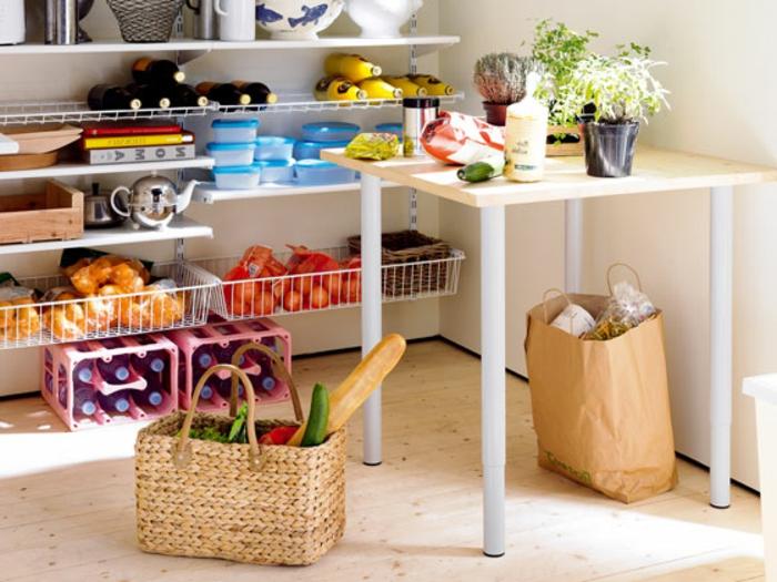 Drahtkörbe Regal System Nahrungsmittel in Speisekammer lagern