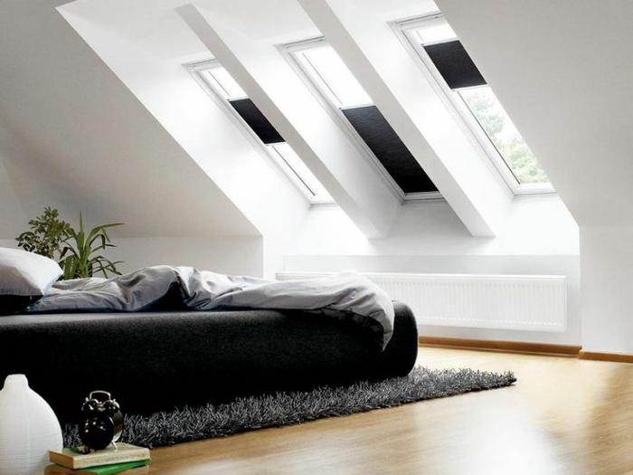 Dachgeschoss Schlafzimmer Design mit Verdunklungsrolls