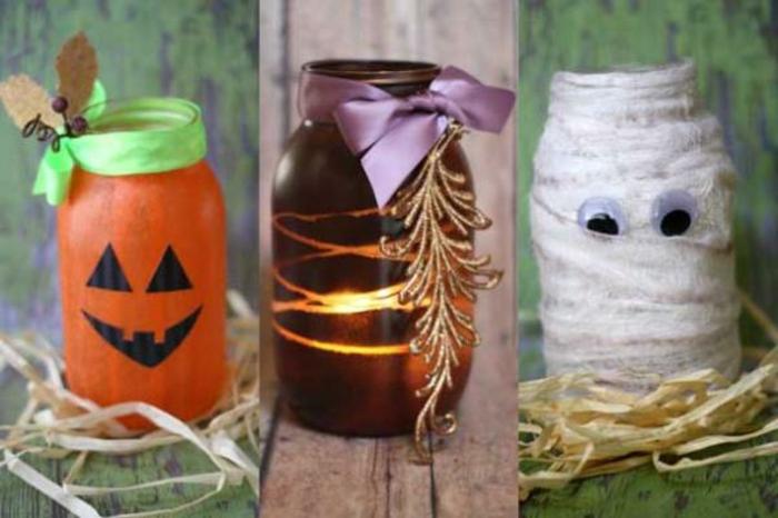 Basteln mit Gläsern - gruselige Figuren für Halloween ausarbeiten