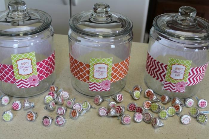 DIY Geschenk für Muttertag - Basteln mit Gläsern