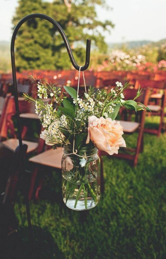 Garten Deko für Hochzeitsfeier draußen - DIY Glas verzieren