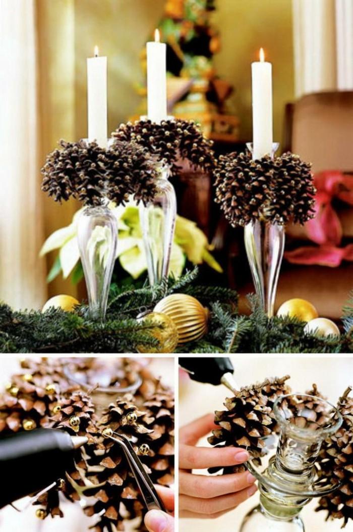 Weihnachtsdeko-mit-tannenzapfen-ständer-für-die-kerzen