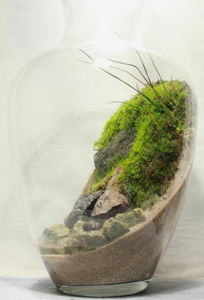außergewöhnliche-deko-ein-terarium-mit-moos-in-einer-flasche