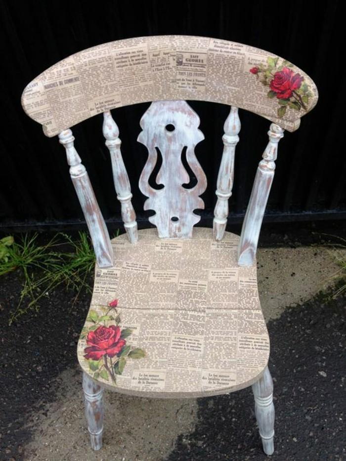 aus-alt-neu-machen-stuhl-vintage-retro-zeitung-rote-rosen-diy-pflanzen