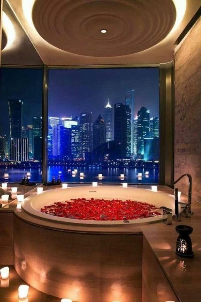 badezimmer gestalten mit runder badewanne