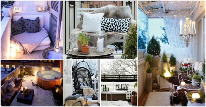 balkon-ideen-klein-hängender-schaukelstuhl-sitzbank-balkonmöbel-whirlpool-jacuzzi-balkon