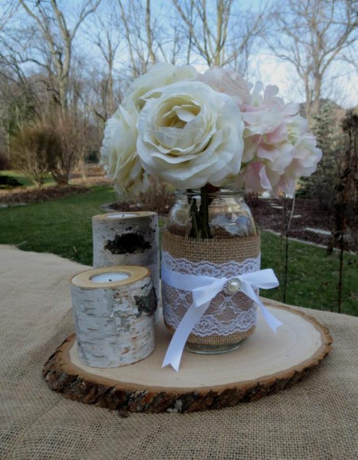 bildschöne Deko zur Hochzeit - Weckgläser dekorieren