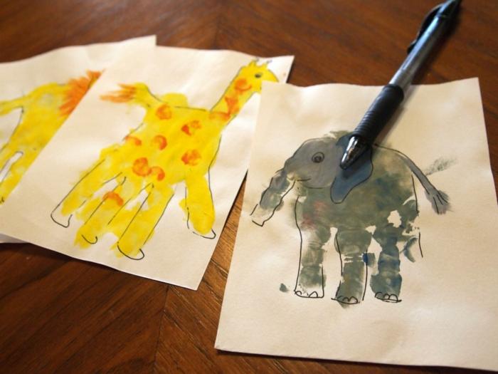 bilder mit handabdruck - eine anleitung