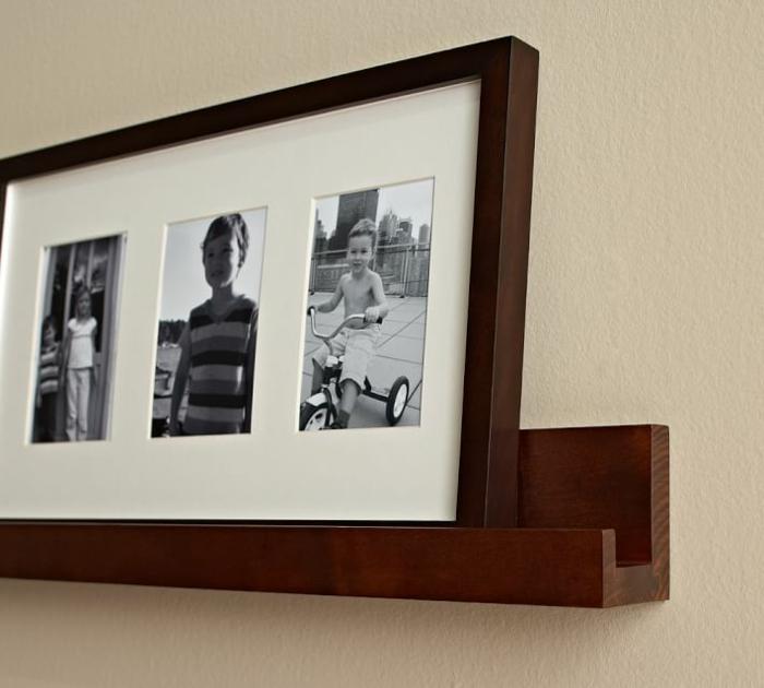 Bilderleiste dekorieren- ein großer Bilderrahmen mit drei Fotos