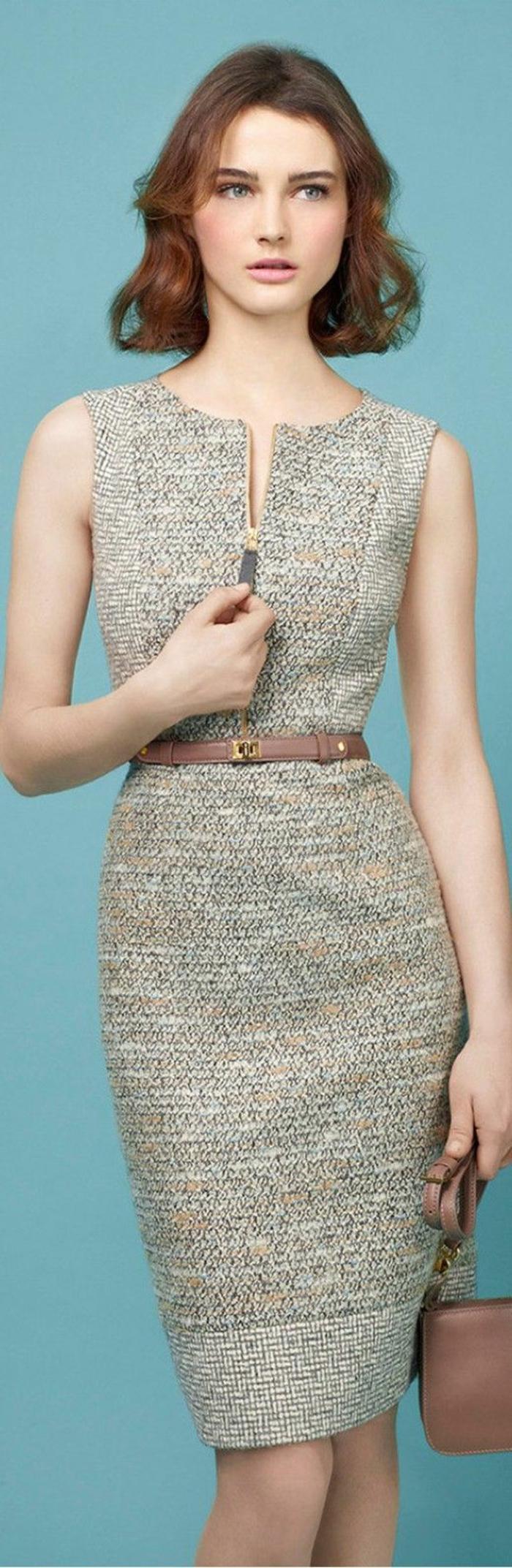 business-kleidung-frauen-beige-grau-frau-bekleidung-elegante-frisur-guertel-tasche-klips