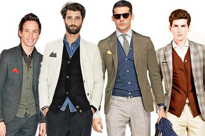 blazer in verschiedenen farben weiss grau beige grün kariert elegante männer casual stil models