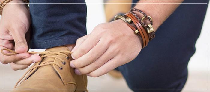 clarks mit armbänder kombinieren eine schleife machen mann mit stil mode 2017 casual dresscode