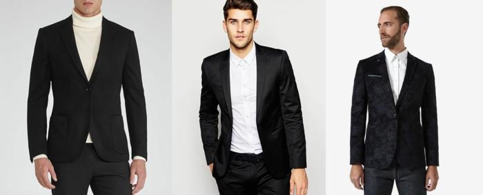 dresscode festlich der blazer macht männer sehen noch eleganter und toller aus schwarz-weiß