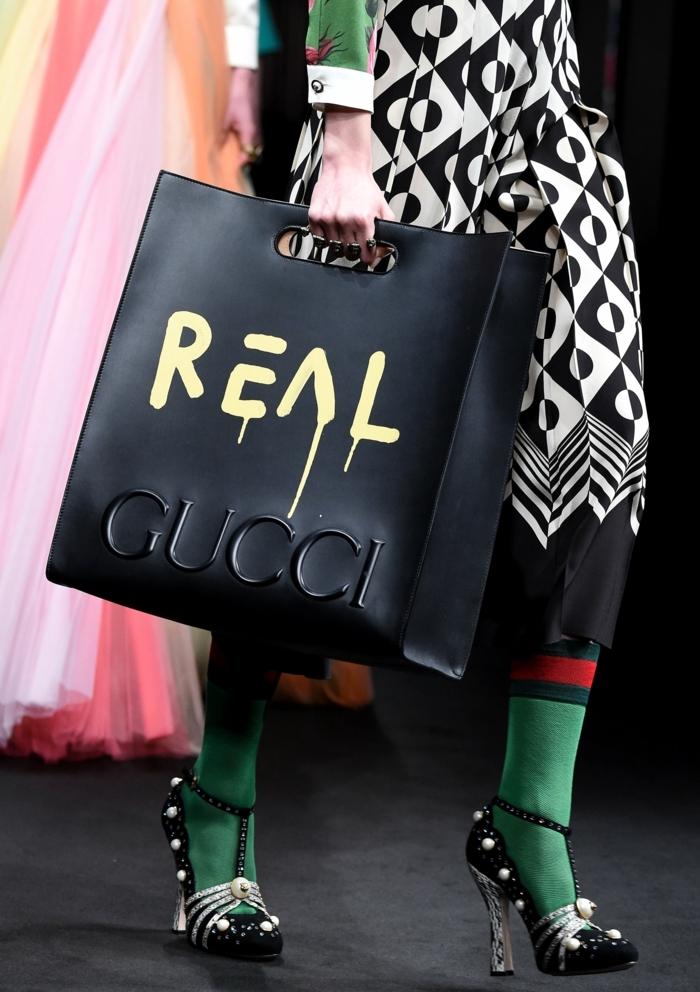dresscode casual gucci tasche trendy im 2017 model des jahres grüne farbe schwarz-weiß