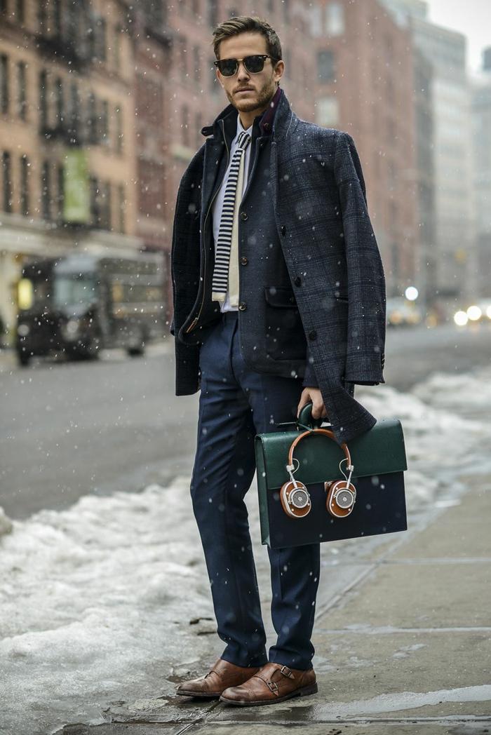 winter wie kann man modern und schön auch im winter aussehen vorschlag ideen tasche kopfhörer