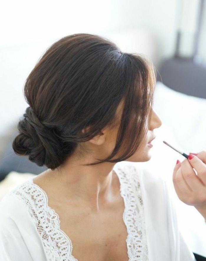 prachtvolle dutt frisuren - eine lässige hochsteckfrisur
