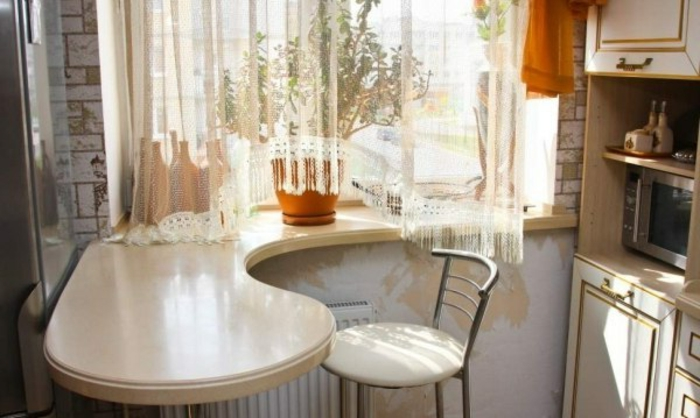 Fensterbank aus Holz design küche gestalten