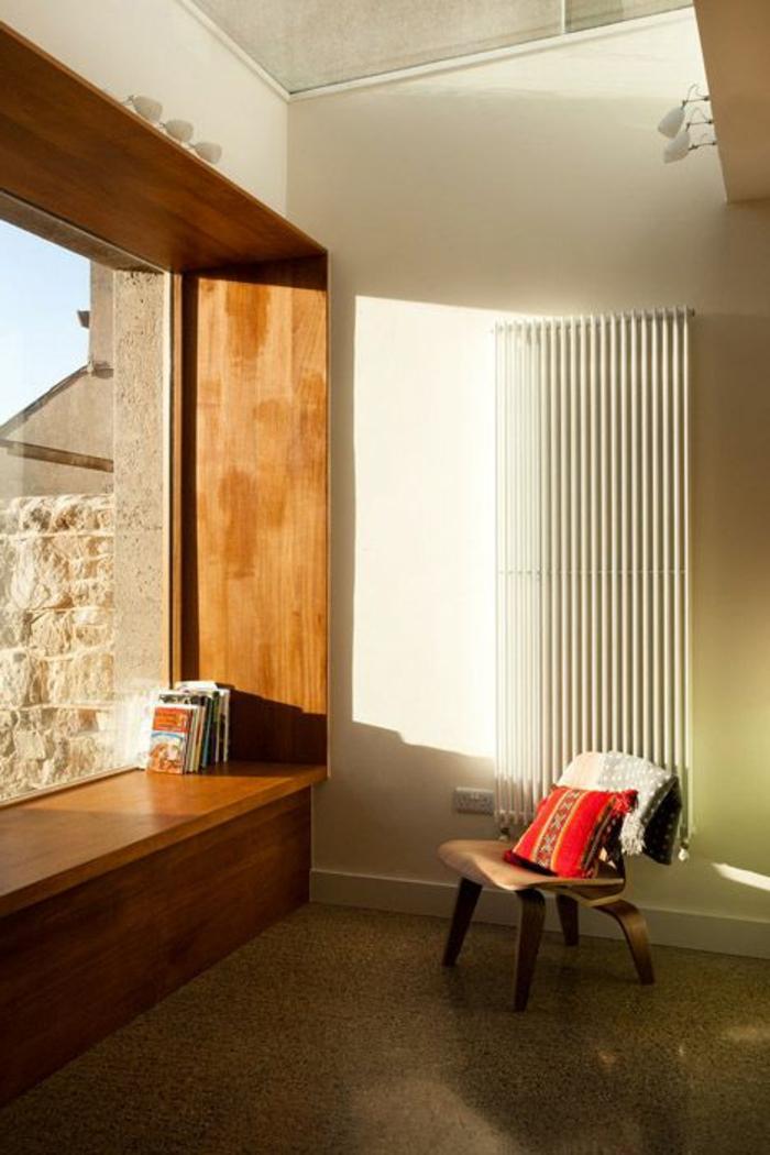 Fensterbank aus Holz innen für Panoramenfenster