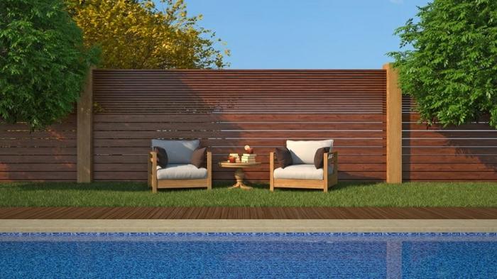ein Holzzaun als Gartenzaun für mehr Harmonie in Ihrem Garten