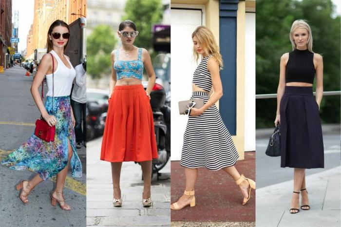 dresscode smart casual röcke schön und attraktiv kombinieren und tragen sommeroutfits 2017
