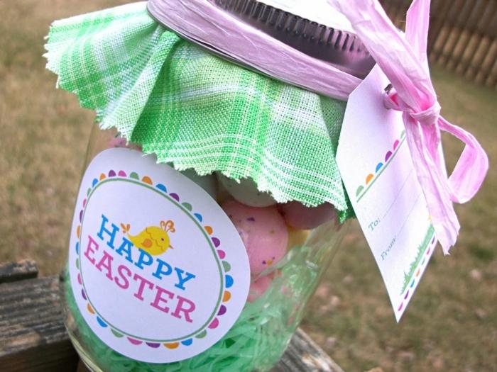 Herzlichen Glückwunsch zum Ostern mit Einmachgläser Deko sagen