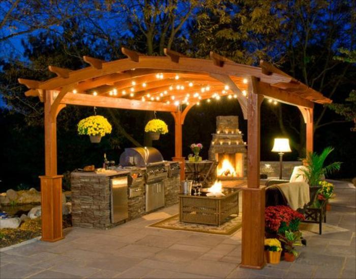 1001 ideen f r outdoor grillk che mit modernem design. Black Bedroom Furniture Sets. Home Design Ideas