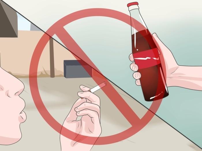 gruener-kaffee-extrakt-trinken-keine-cola-keine-zigaretten-man-soll-nicht-rauchen-gesunder-lebensstil