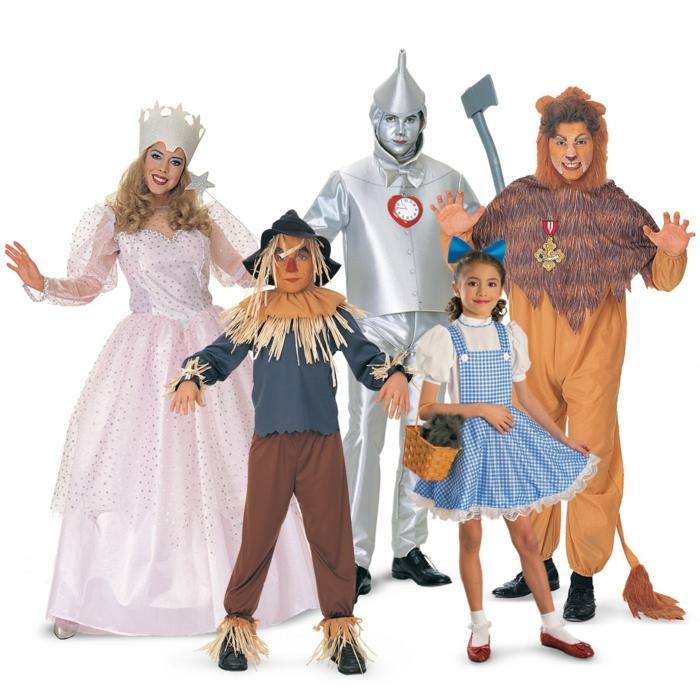 Kostüm Gruppe mit den Helden von Zauberer von Oz