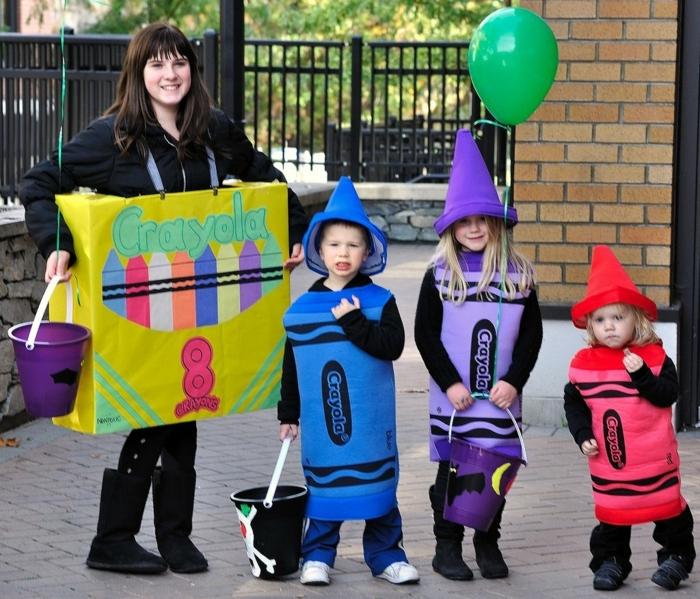 Helloween lustige Gruppenkostüme für niedliche Kinder