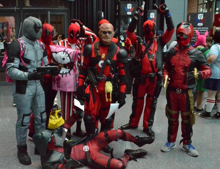 lustige Gruppenkostüme von Deadpool - alle Variationen