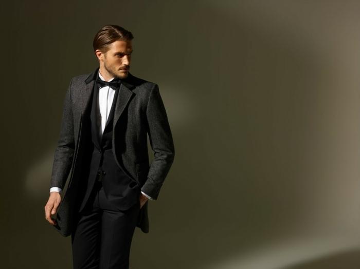 hemd-mit-fliege-eleganter-businessman-mit-blazer-fliege-schleife-schlips-maeschli-mascherl-bart-und-lange-haare-anziehender-look