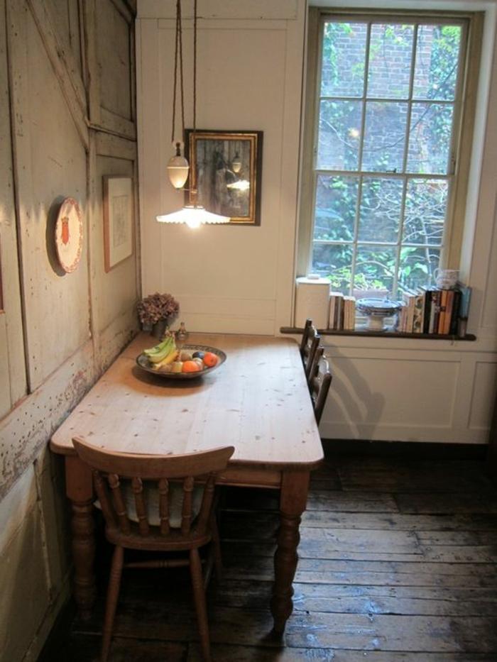 vintage gestaltung für küche rustikaler pendelleuchter