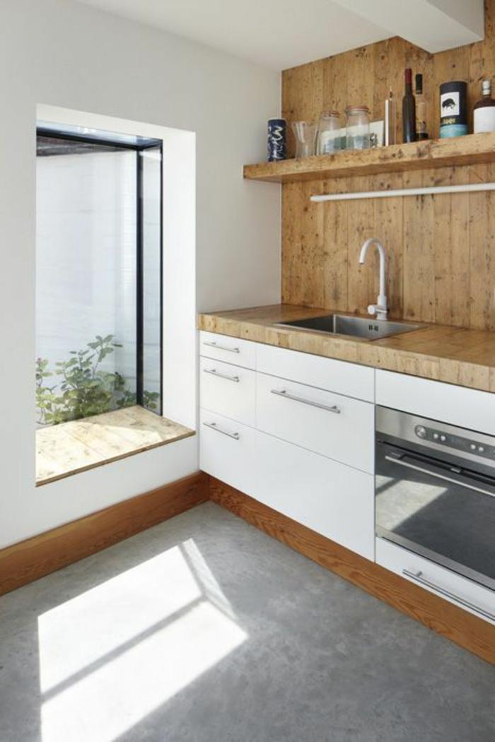 holz fensterbrett in der küche rustikal mit holz panel
