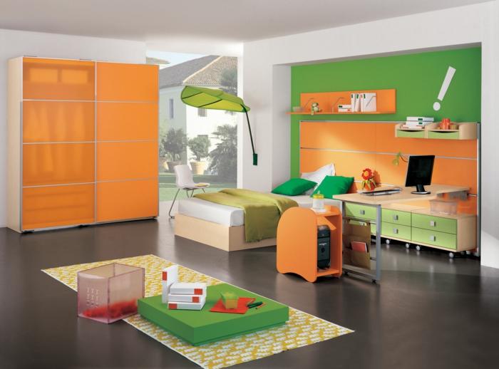 kinderzimmer ideen jungs teppich gelb grüne farbe orangen design kinderzimmer ideen junge