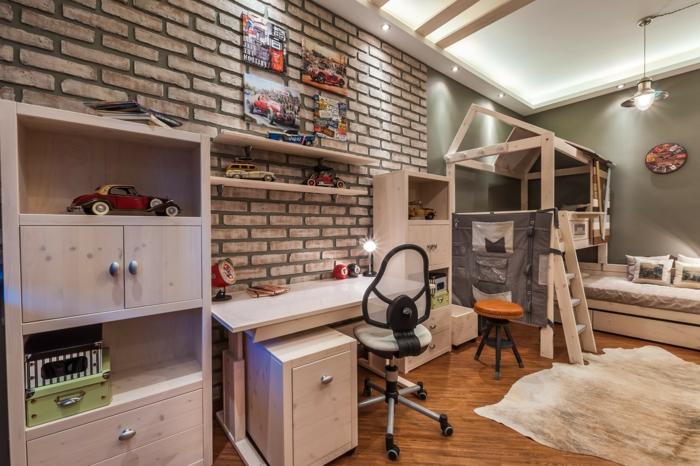 kinderzimmer grau idee. Black Bedroom Furniture Sets. Home Design Ideas
