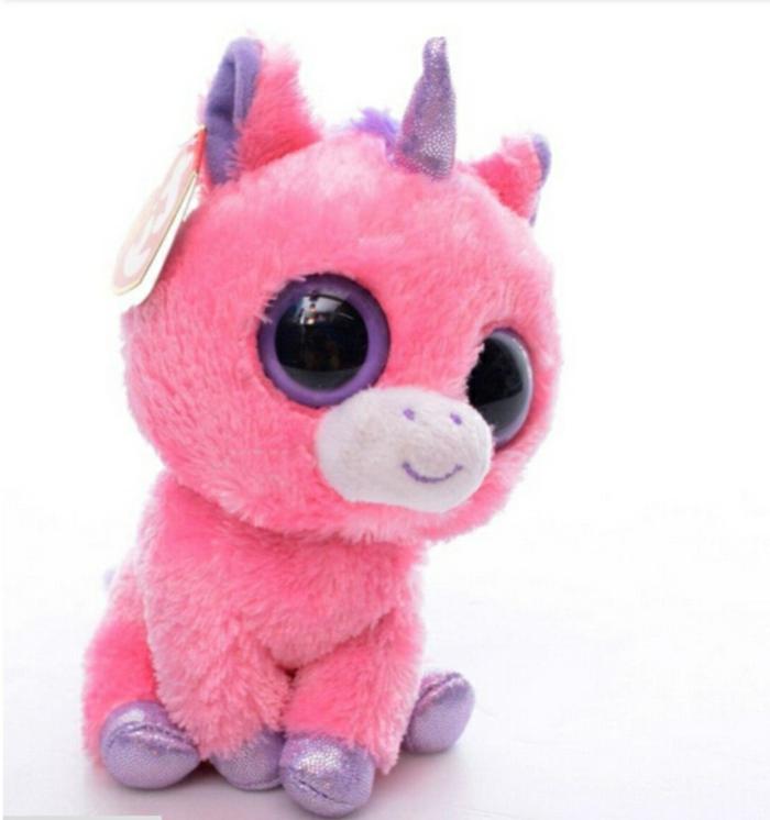 kuscheltiere-ein-süßes-kleines-pinkes-einhorn