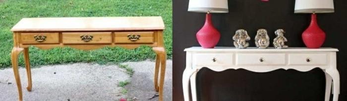 möbel-restaurieren-tisch-mit-schubladen-tischlampen-dekorationen-grass