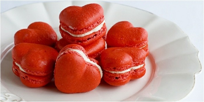 Red Velvet Kuchen Rezept Herzchen Nachtisch Herz Macaroons