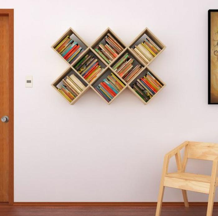 1001 ideen und inspirationen f r ein diy wandregal - Muebles para libros modernos ...