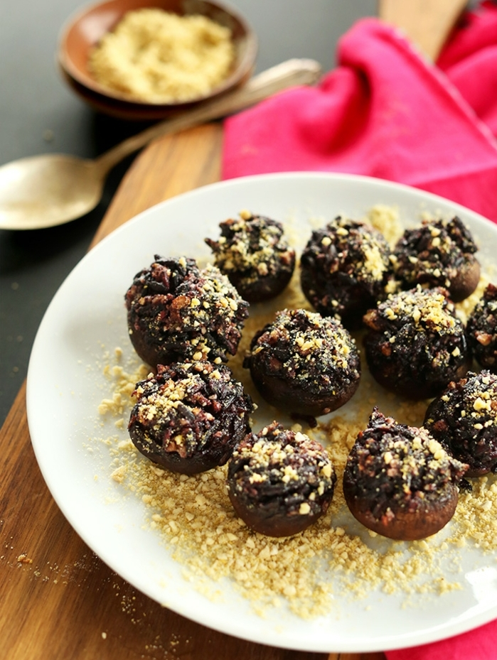 schwarze reis süßigkeiten gesund rezept ideen reis kakao honig und kekse kombination praline